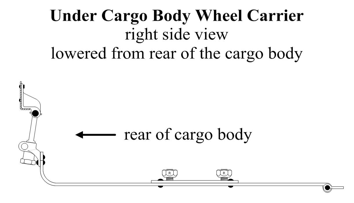 Under Cargo Body Wheel Carrier Installation Type