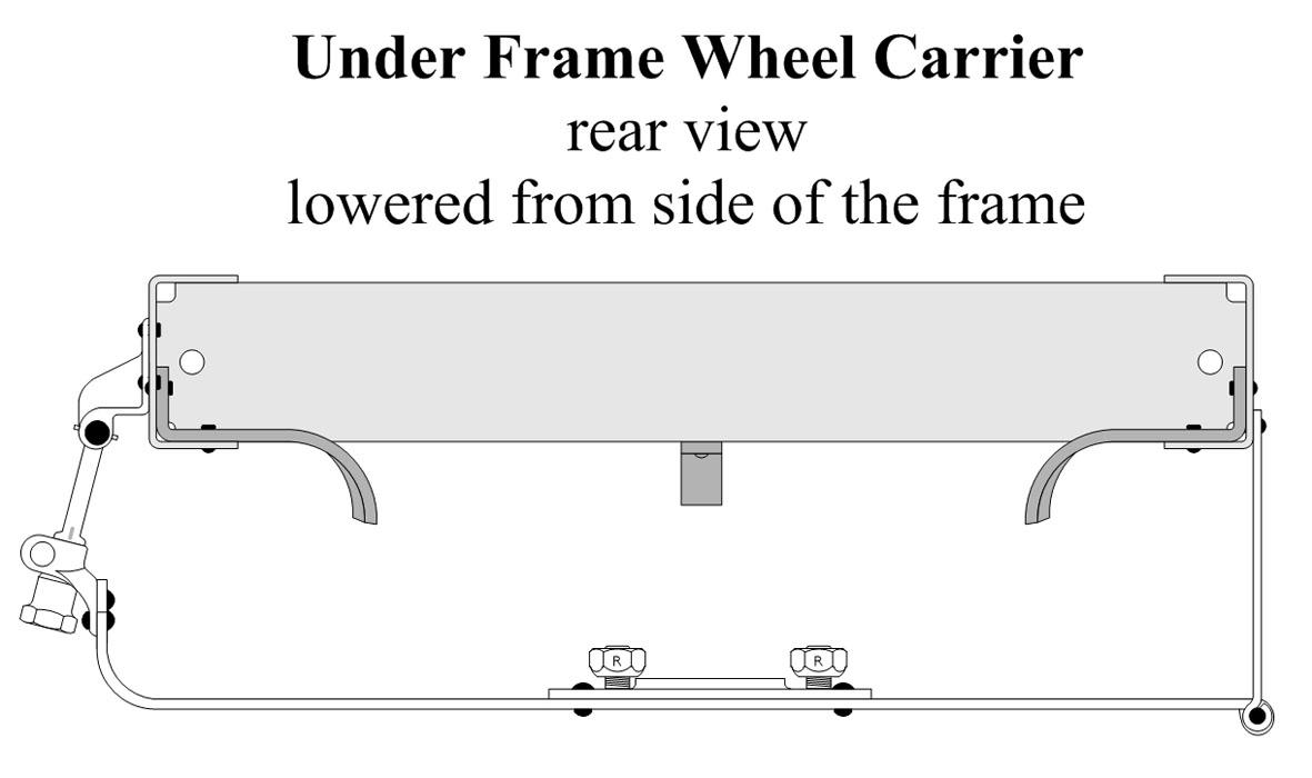 Under Frame Wheel Carrier Installation Type