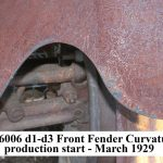 A-16006 LH d1,2,3 Front Fender d1-d3 - Curvature through March 1929