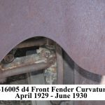 A-16006 LH d4 Front Fender - Curvature starting April 1929