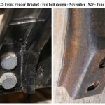 A-16025 d6 Fender Bracket - at frame November 1929 - June 1930