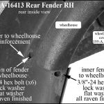 AA-16413 RH Rear Fender Installation