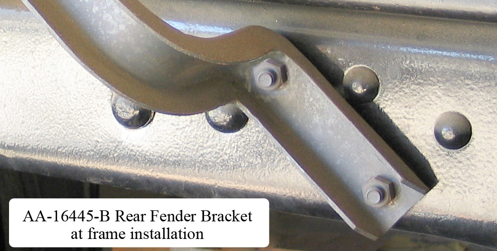AA-16445-B Rear Fender Bracket