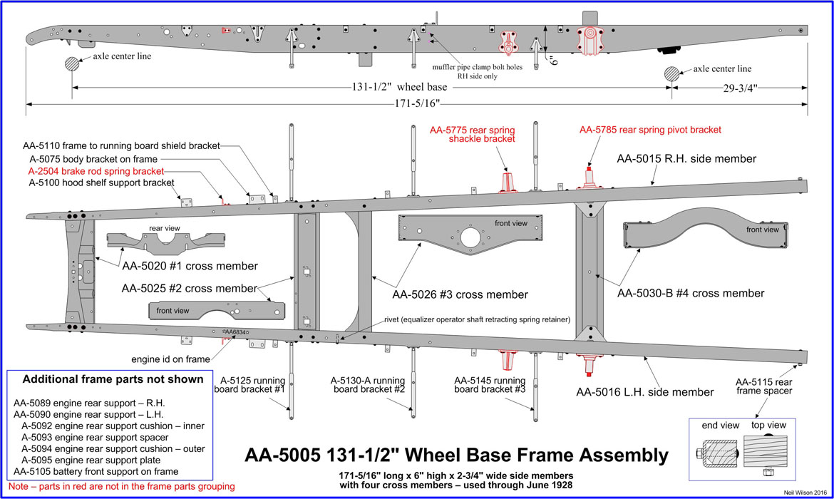 AA-5005 d1 Frame Assembly Details