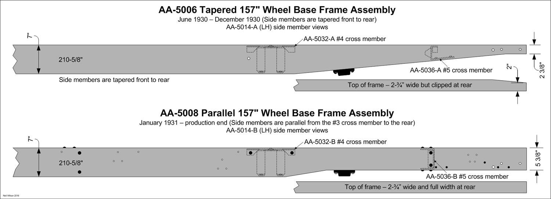 AA157 AA-5014-A/B Side Members