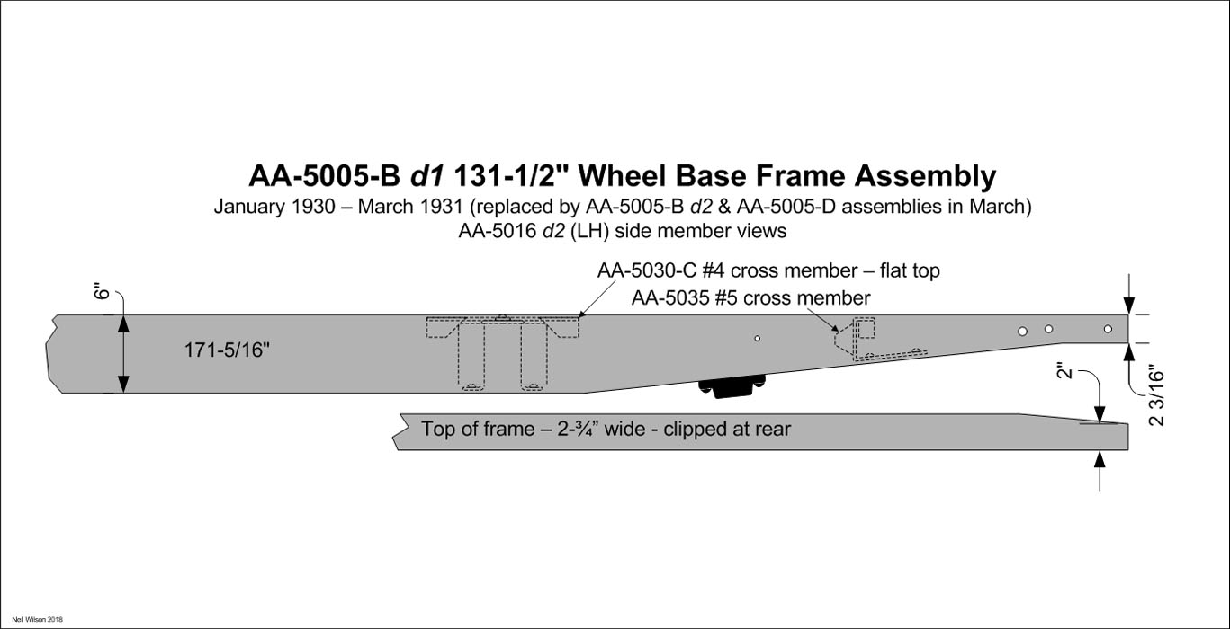 AA-5016 d2 Side Member – for AA-5005-B Frame Assembly 1930 – March 1931