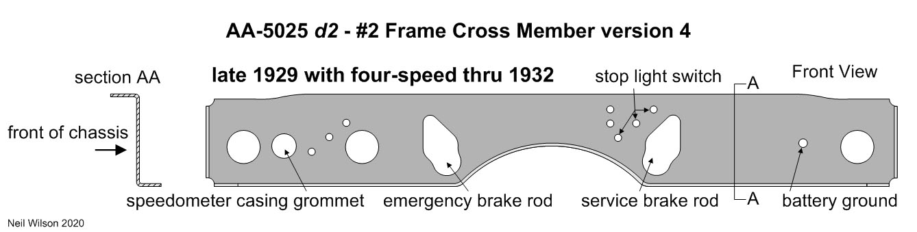 AA-5025 d2 version 4 Frame #2 Cross Member