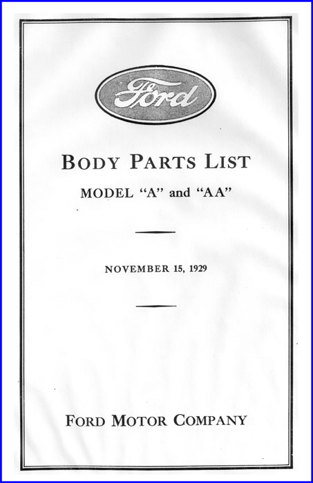 Body Parts List - Cover Example